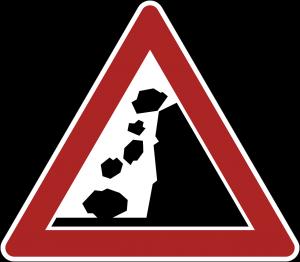 落石注意の画像