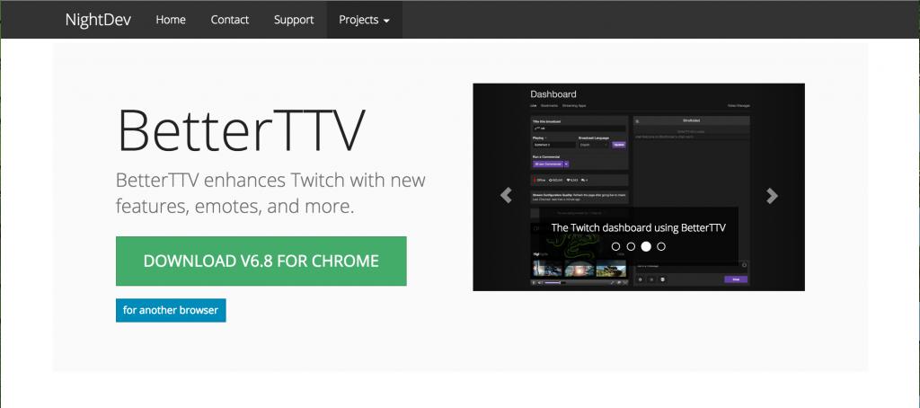 BetterTTV公式ホームページ