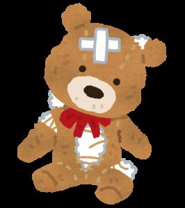 ボロボロの熊の画像