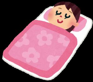 眠っている人の画像