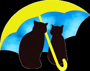 相合傘の画像