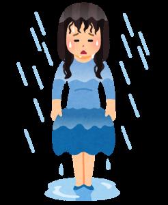 ずぶ濡れの画像