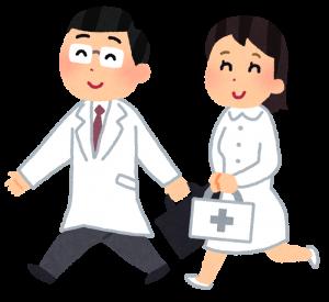 医者と看護婦の画像