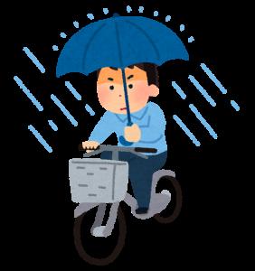 傘さし運転のイラスト