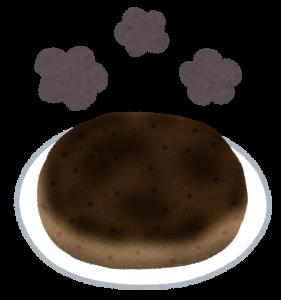 焦げた料理の画像
