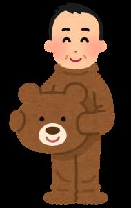 熊の着ぐるみの画像
