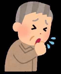 咳をしている人の画像