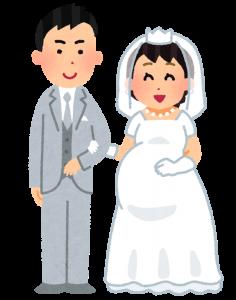 できちゃった婚の画像