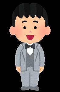 タキシードを着ている男性の画像