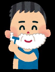 髭剃りの画像