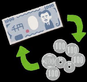 小銭とお札の画像