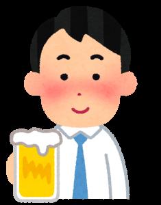 酒を飲む男性の画像
