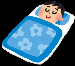 眠っている男性の画像