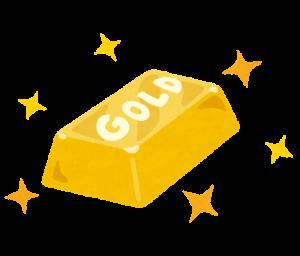 金の延べ棒の画像