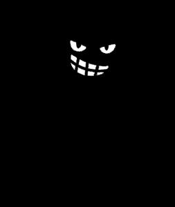 黒塗りの人の画像