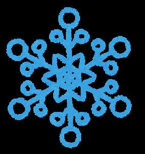 雪の結晶の画像