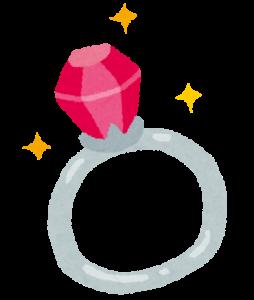 ルビーの指輪の画像